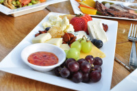 Food Platter with cheese, grapes and Guava!